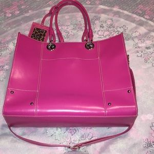 Wilson's Leather Large Pink Tote/Laptop Carrier